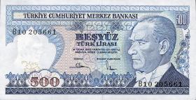 Türkei / Turkey P.195 500 Lira 1970 (1983) (1)