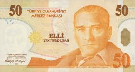 Türkei / Turkey P.220 50 Neue Lira 2005 (1)