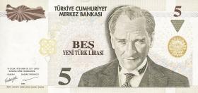Türkei / Turkey P.217 5 Neue Lira 2005 (1)