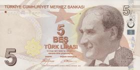 Türkei / Turkey P.222 5 Lira 2009 (1)