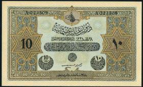 Türkei / Turkey P.110x 10 Livres L.1334 (1918) (1)