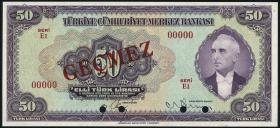Türkei / Turkey P.142As 50 Lira L. 1930 (1942) (1)