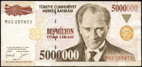 Türkei / Turkey P.210 5.000.000 Lira 1997 (3)