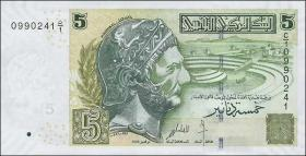 Tunesien / Tunisia P.92 5 Dinars 2008 (1)