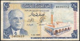 Tunesien / Tunisia P.62 1/2 Dinar 1965 (3)
