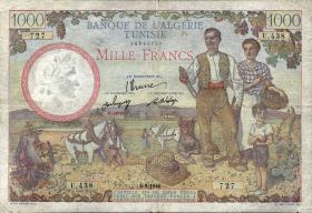 Tunesien / Tunisia P.26 1000 Francs 5.9.1946 (5)