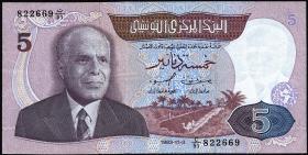 Tunesien / Tunisia P.79 5 Dinars 1983 (2)