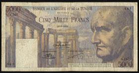 Tunesien / Tunisia P.30 5000 Francs 1952 (4)
