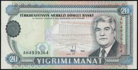 Turkmenistan P.04b 20 Manat 1995 (1)