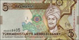 Turkmenistan P.23 5 Manat 2009 (1)