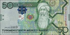Turkmenistan P.26 50 Manat 2009 (1)