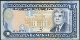 Turkmenistan P.06a 100 Manat (1993) (1)