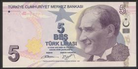 Türkei / Turkey P.222b 5 Lira 2009 (1)