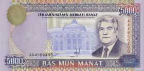 Turkmenistan P.09 5000 Manat 1996 (1)