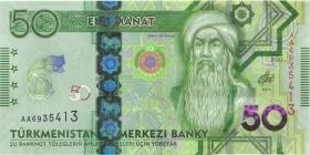 Turkmenistan 50 Manat 2020 (1) Gedenkbanknote