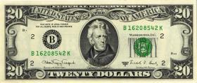 USA / United States P.483 20 Dollars 1988 A (1)
