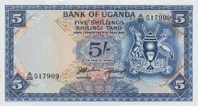 Uganda P.01 5 Shillings (1966) (1)