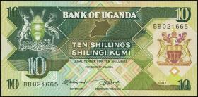 Uganda P.28 10 Shillings 1987 (1)