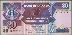 Uganda P.29a 20 Schillings 1987 (1)