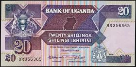 Uganda P.29b 20 Schillings 1988 (1)