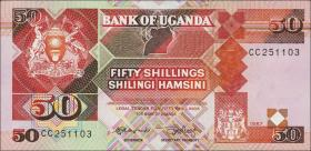 Uganda P.30a 50 Schillings 1987 (1)
