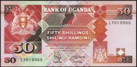 Uganda P.30c 50 Schillings 1994-98 (1)