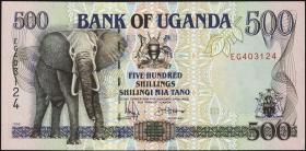 Uganda P.35a 500 Schillings 1994/96 (1)