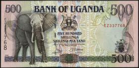 Uganda P.35b 500 Schillings 1997/98 (1)