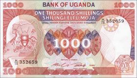 Uganda P.26 1000 Shillings 1986 (1)