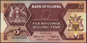Uganda P.27 5 Schillings 1987 (1)