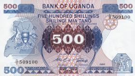 Uganda P.25 500 Schillings 1986 (1)
