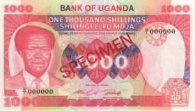 Uganda P.23s 1000 Shillings (1983) Specimen (1)