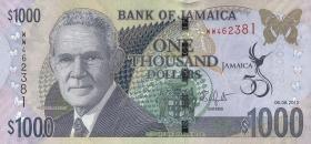 Jamaika / Jamaica P.92 1000 Dollars 2012 Gedenkbanknote (1)