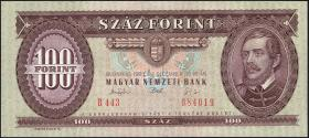 Ungarn / Hungary P.174b 100 Forint 1992 (1)