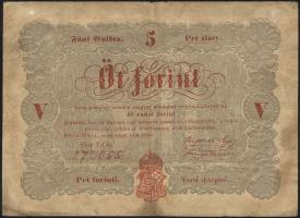 Ungarn / Hungary P.S116a 5 Forint 1848 (4)