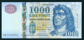 Ungarn / Hungary P.197c 1000 Forint 2011 (1)