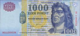 Ungarn / Hungary P.185a 1000 Forint 2000 Millenium (1)