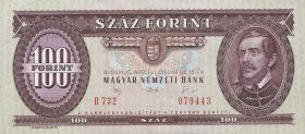 Ungarn / Hungary P.174a 100 Forint 1992 (1)