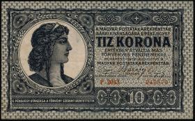 Ungarn / Hungary P.041 10 Kronen 9.8.1919 (2-)