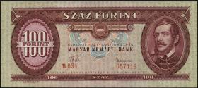 Ungarn / Hungary P.171a 100 Forint 1957 (1)