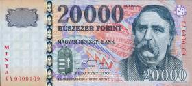 Ungarn / Hungary P.184s 20000 Forint 1999 Minta (1)