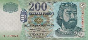 Ungarn / Hungary P.178 200 Forint 1998 (1)