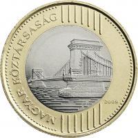 Ungarn 200 Forint 2009 Kettenbrücke