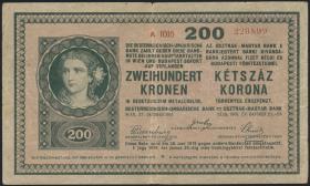 Ungarn / Hungary P.014 200 Kronen 1918 A 1016 (3-)