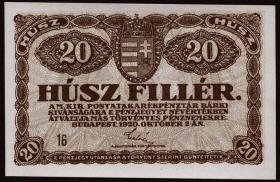 Ungarn / Hungary P.043 20 Filler 1920 (1)