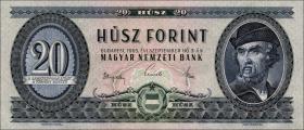 Ungarn / Hungary P.169d 20 Forint 1965 (1)