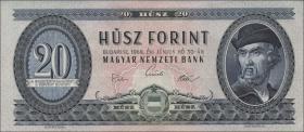 Ungarn / Hungary P.169e 20 Forint 1969 (1-)