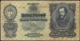 Ungarn / Hungary P.097 20 Pengö 1930 (3)