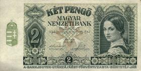 Ungarn / Hungary P.108 2 Pengö 1940 (1)