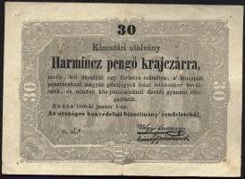 Ungarn / Hungary P.S122 30 Pengö Kreuzer 1849 (3+)
